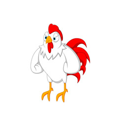 vector illustration of a cartoon rooster