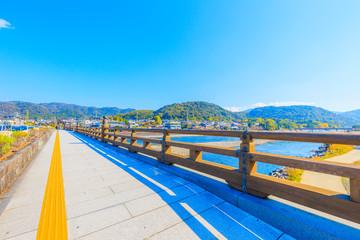 京都 宇治川の風景