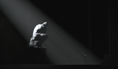 The Thinker Statue Abstract Wall mural