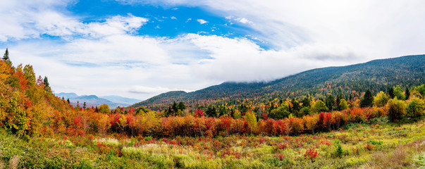 Panoramic New England Fall by Turnoff