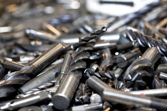 Tungsten tools. Drills covered with tungsten