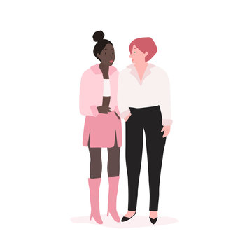 Two diverse independent women vector