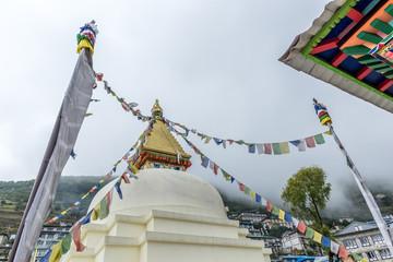 Namche Bazaar village on the way to Everest Base Camp, Khumbu Region, Nepal Himalaya.