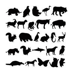 vektor logo black and white  silhouette
