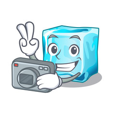 Photographer Ice cubes set on wiht character