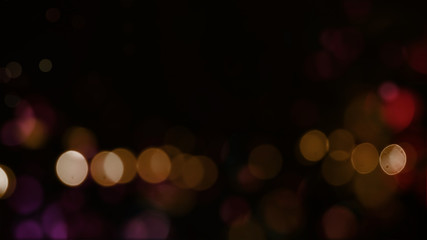 Bokeh abstract texture. Colorful. Defocused background. Blurred bright light. Circular points