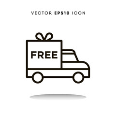 Free delivery cyber monday vector icon