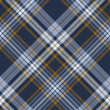 Plaid pattern in dusty blue, faded navy and brown