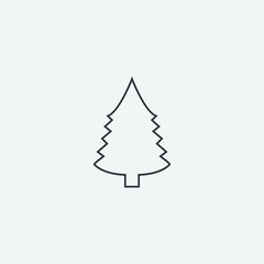 Christmas Tree icon, Xmas tree symbol, New year icon symbol