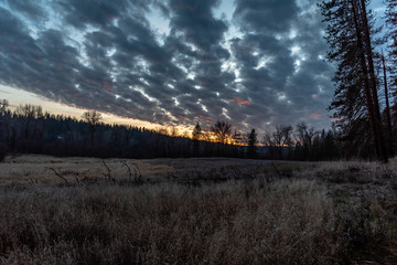 Sunset In The Little Spokane Natural Area