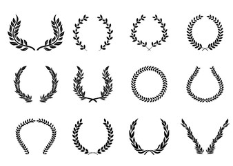 月桂樹のオーナメント(ブラック)ローレルリース|飾り囲み・LAUREL Wreath