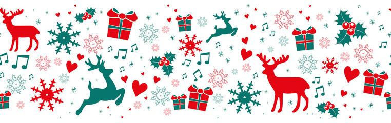 Seamless Christmas Banner