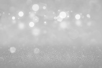 beautiful bright glitter lights defocused bokeh abstract background, festive mockup texture with blank space for your content