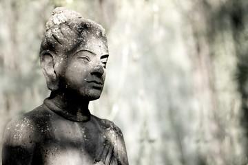 Stone statue in black and white colour