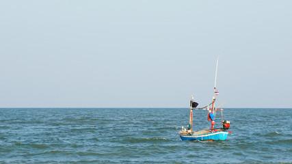 Fishing boat in the sea, phetchaburi Thailand