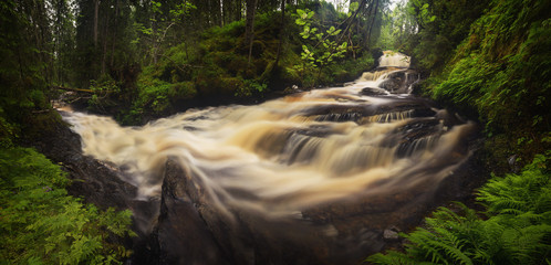 Mountain stream after rainfalls, Jonsvatnet, Norway Fototapete
