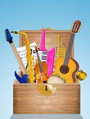 instrumental music in box