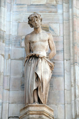 Celsus, statue on the Milan Cathedral, Duomo di Santa Maria Nascente, Milan, Lombardy, Italy