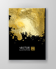 Vector Black and Gold Design Templates
