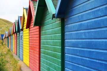 Colorful Beach Houses in United Kingdom