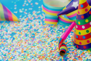 Colorful accessories to fun party on carnival or birthday.