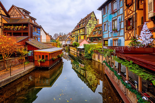 Colorful timber houses in Colmar Old Town, Alsace, France