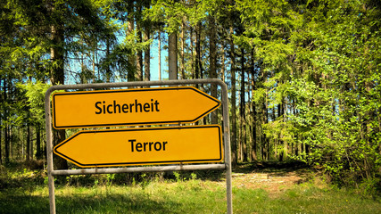 Schild 356 - Sicherheit vs. Terror