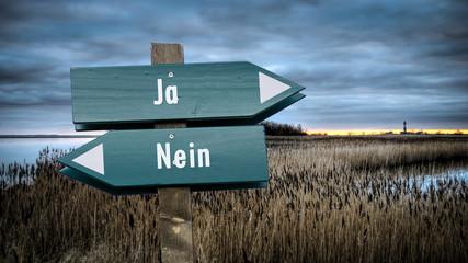 Schild 382 - Ja