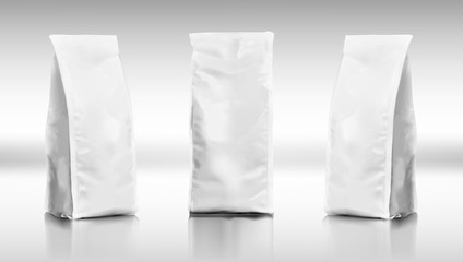 Set Of Realistic Plastic Food Tall Bags