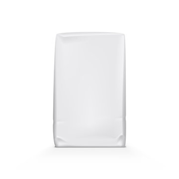 White Clear Paper Or Foil Plastic Bag Pack