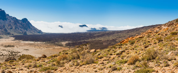 lava landscape Teide volcano Tenerife Canary