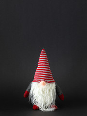 a Christmas gnomes with white beard