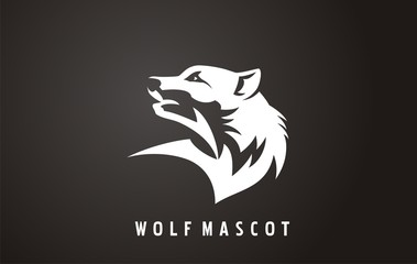 Wilderness vector illustrations. Wolf sign, symbol or logo. Graphic themes solution for wildlife. Wolf silhouette icon.