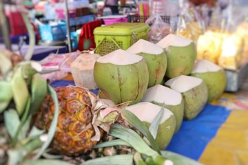 Coconut at street food