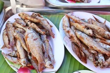 Fried fish at street food