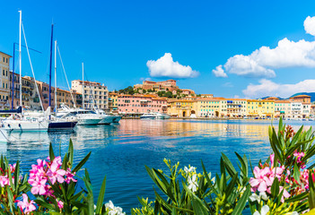 Old town and harbor Portoferraio, Elba island, Italy