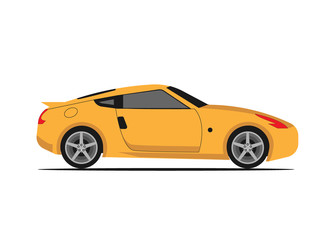 Vector illustration of yellow car,