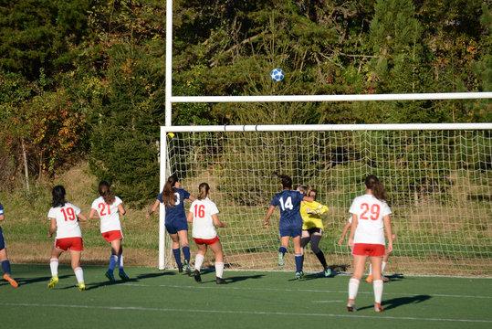 Shot misses the goal