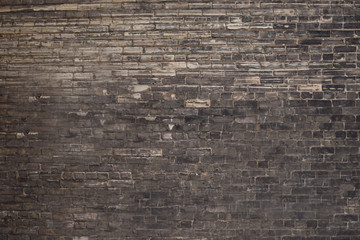 Background abstraction brick wall with black and gray bricks