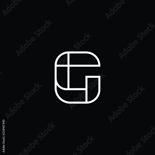 eec3e29357 Outstanding professional elegant trendy awesome artistic black and gold  color G GG CG GC initial based