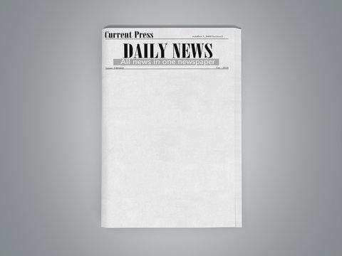 newspaper in stack 3d render on grey