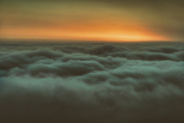 background of over the clouds