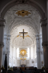 Cathedral in Wurzburg, Bavaria, Germany, dedicated to Saint Kilian