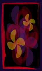 Tarot cards - back design.  Floral pattern
