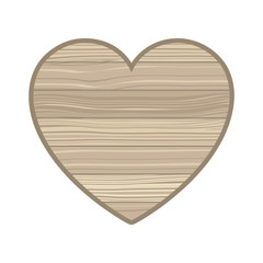 heart with wooden texture isolated icon