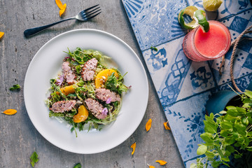Summer duck salad