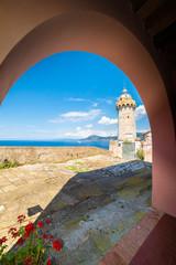 Wall Mural - Lighthouse of old town Portoferraio, Elba island, Tuscany, Italy