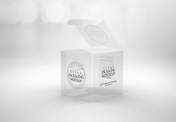 Clear Square Box Mockup