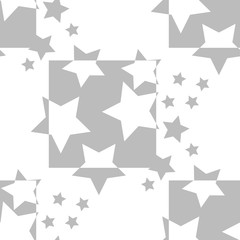 Geometric seamless pattern stars and squere