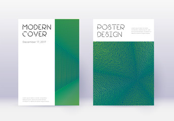 Minimal cover design template set. Green abstract